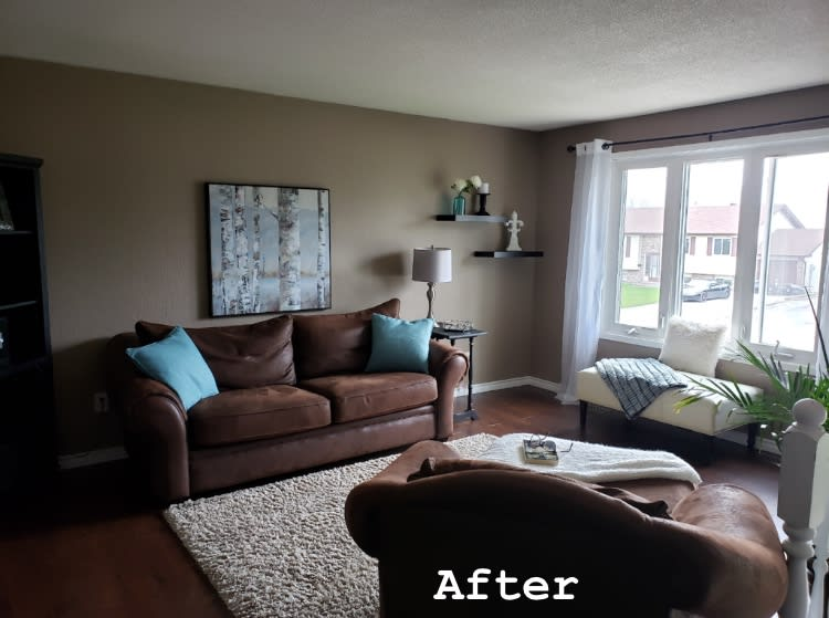 after staging the living room in the muskokas